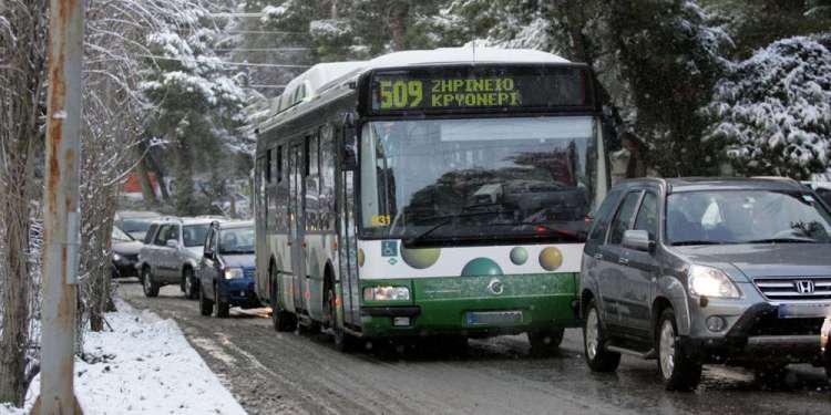 Καιρός – «Μήδεια»: Έμφραγμα στις συγκοινωνίες της Αθήνας – Επιστρέφουν στα αμαξοστάσια τα λεωφορεία