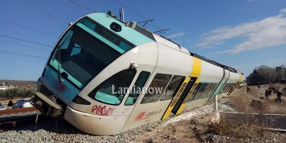 Εκτροχιάστηκε τρένο στο Λιανοκλάδι – Από θαύμα γλύτωσαν οι επιβάτες [εικόνες]