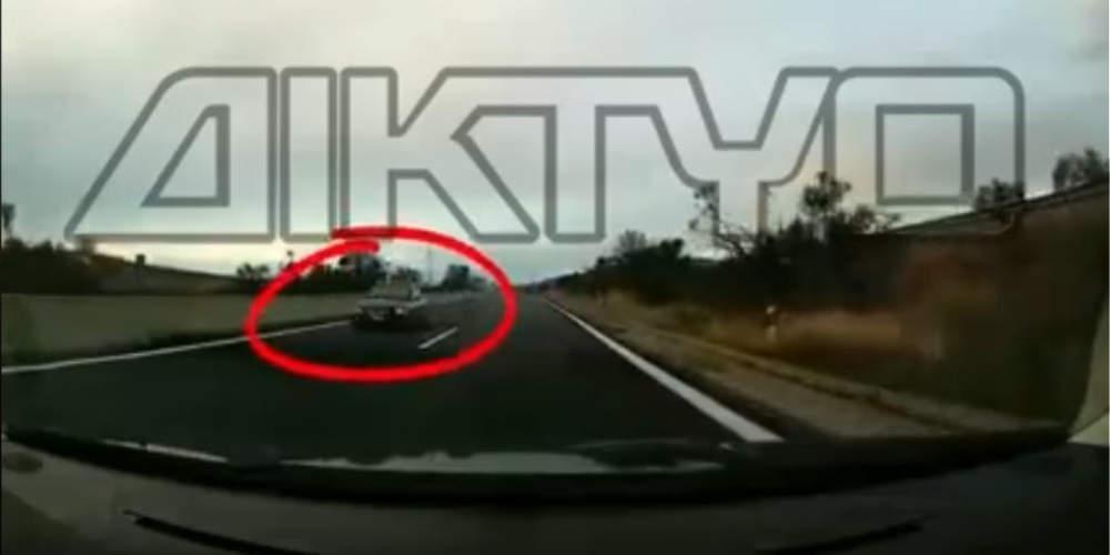 Απίστευτο: Οδηγός μπήκε ανάποδα σε κάθετο άξονα της Εγνατίας στις Σέρρες [βίντεο]