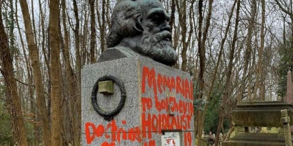 Για δεύτερη φορά μέσα σε δύο εβδομάδες βεβηλώθηκε ο τάφος του Καρλ Μαρξ