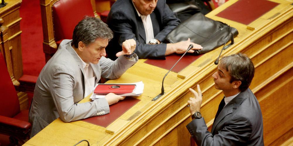 Μητσοτάκης: Ευχαριστώ τον Τσακαλώτο που παραδέχτηκε ότι τα πλεονάσματά του καταστρέφουν την οικονομία