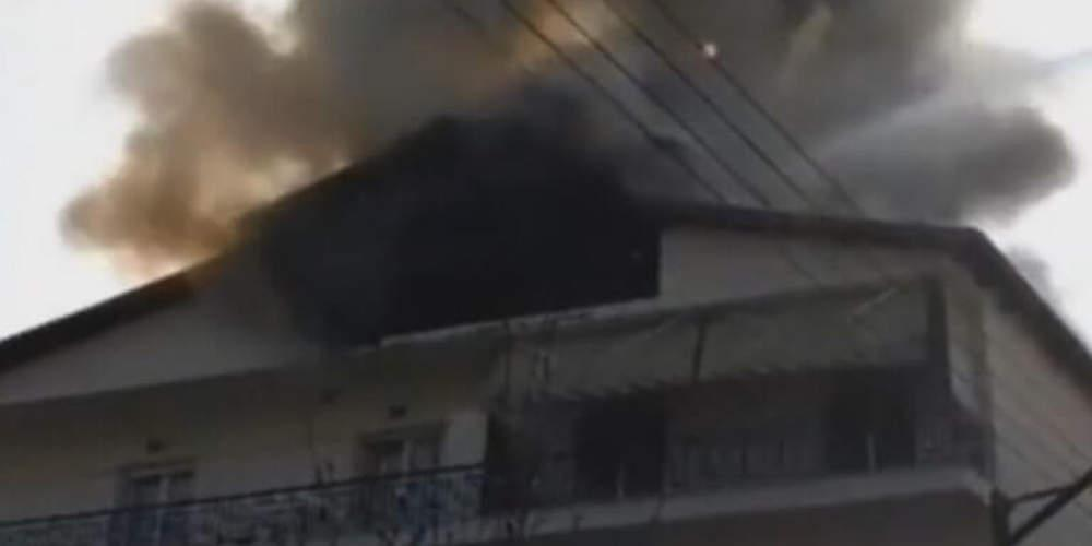 Θρίλερ στα Γρεβενά με πυρκαγιά σε πολυκατοικία [βίντεο]