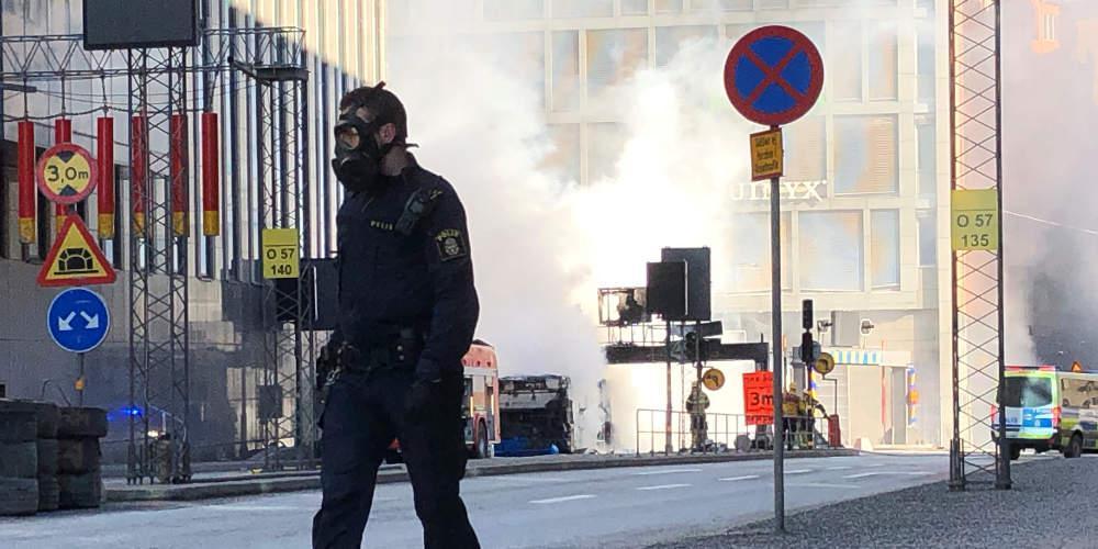 Εξερράγη λεωφορείο στο κέντρο της Στοκχόλμης [βίντεο]