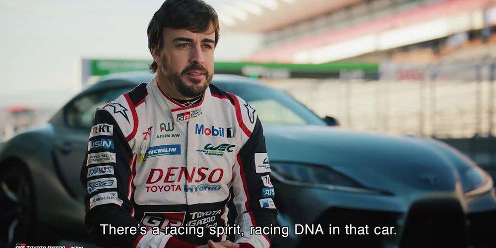 O Fernando Alonso εντυπωσιάστηκε οδηγώντας το νέο Toyota Supra [βίντεο]