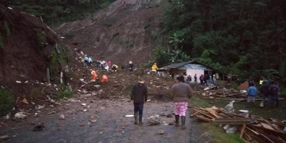 Νεκροί 17 άνθρωποι από κατολίσθηση στην Κολομβία