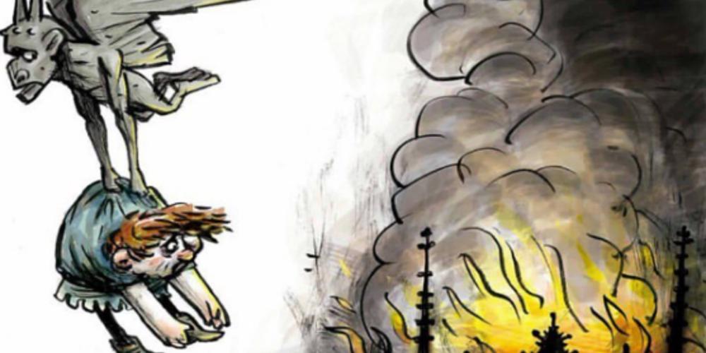 Ο Κουασιμόδος και η Εσμεράλντα θρηνούν για την Παναγία τους - Συγκλονιστικά σκίτσα για την ανείπωτη τραγωδία