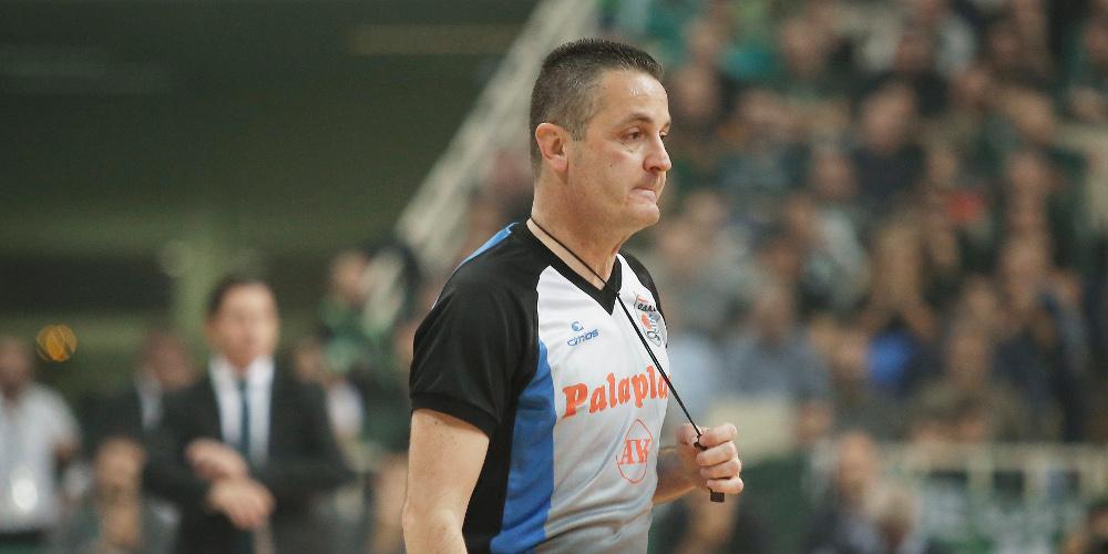 Ο Αναστόπουλος κληρώθηκε διαιτητής στο Παναθηναϊκός-Ολυμπιακός στα play offs