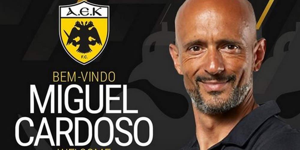 Ανακοίνωσε το νέο της προπονητή η ΑΕΚ, Μιγκέλ Καρντόσο [εικόνα]