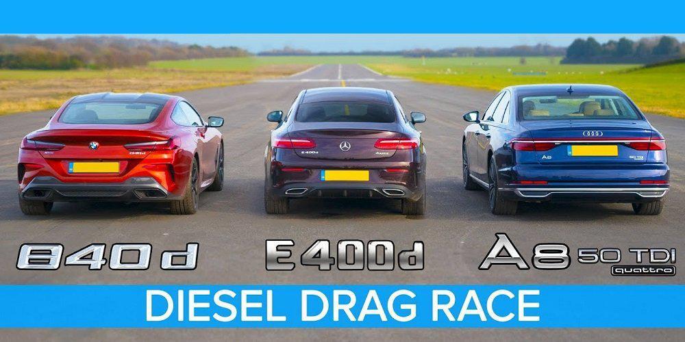 Μάχη Πετρελαιοκίνητων: BMW 840d εναντίον Mercedes E400d και Audi A8 50 TDI [βίντεο]