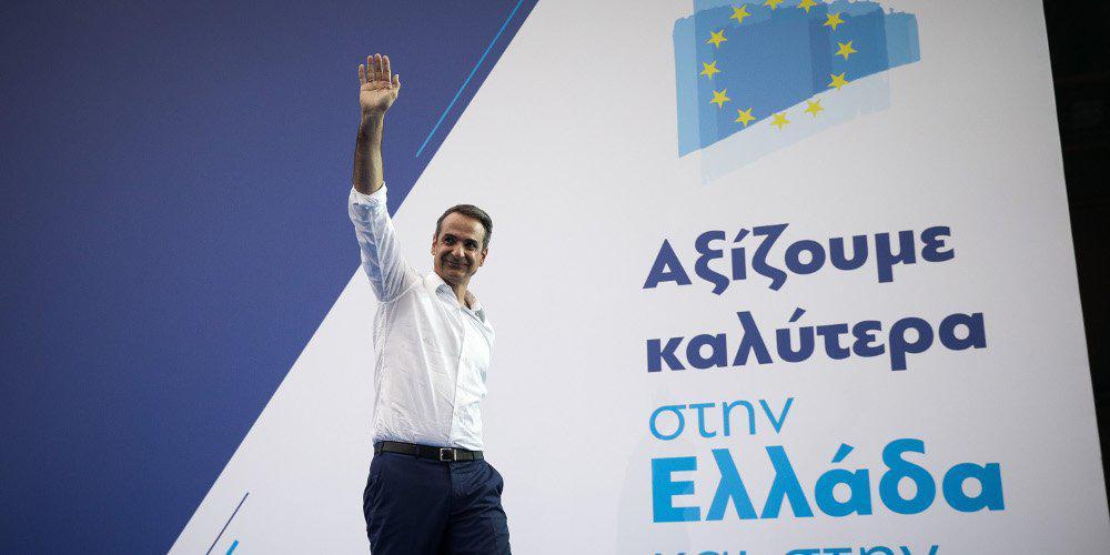 Στα γραφεία της ΝΔ για τα exit polls ο Κυριάκος Μητσοτάκης