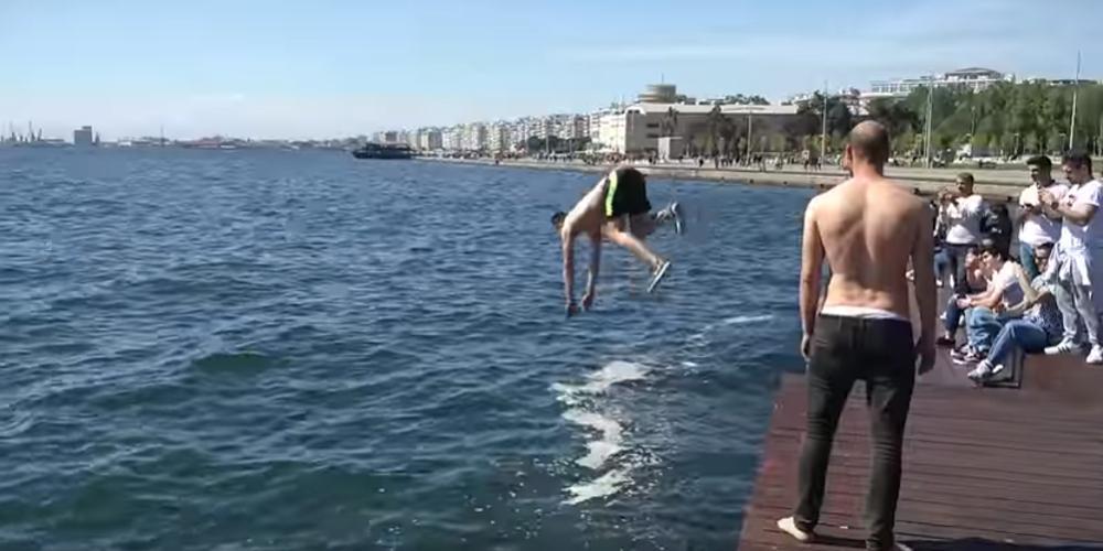 «Λεοντόκαρδος» βουτά στα νερά του Θερμαϊκού [βίντεο]