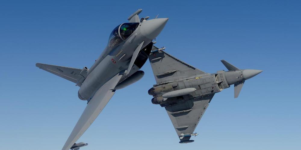 Δύο Eurofighter συγκρούστηκαν το ένα πάνω στο άλλο στην Γερμανία!