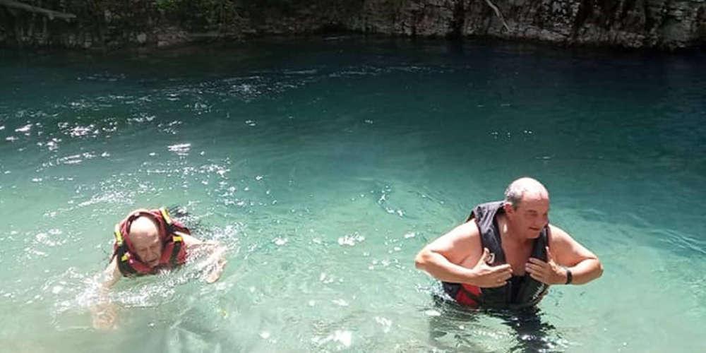 Ράφτινγκ στα νερά του Βοϊδομάτη έκανε ο Κώστας Καραμανλής [εικόνες]