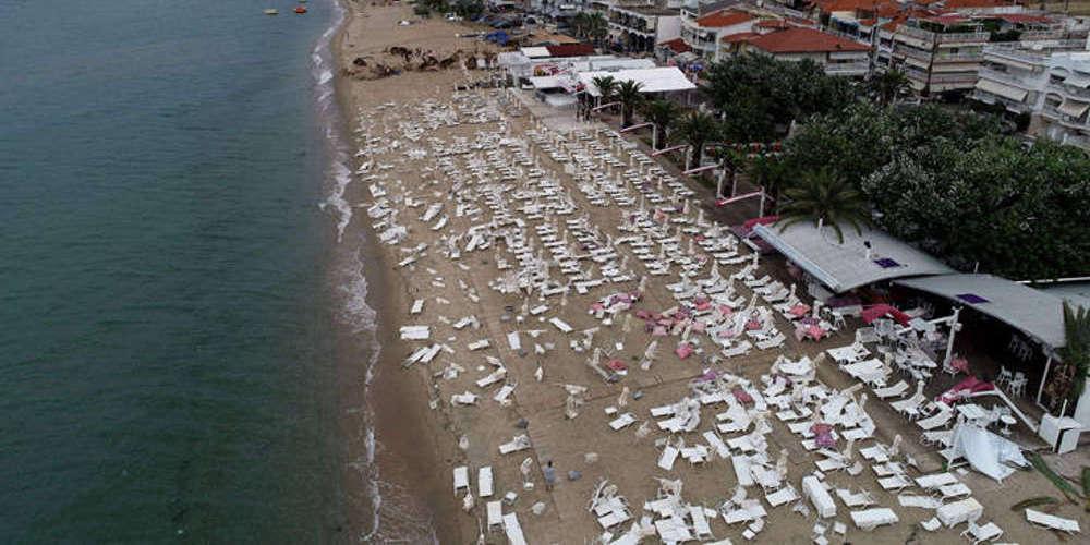Μάχη με τον χρόνο για την αποκατάσταση των ζημιών στην Χαλκιδική