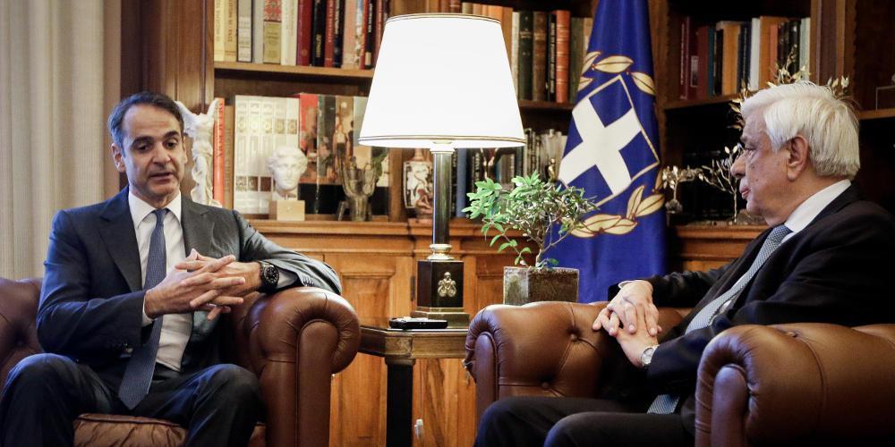 Εντολή σχηματισμού κυβέρνησης σε Μητσοτάκη από Παυλόπουλο - Στη 1 ορκίζεται πρωθυπουργός