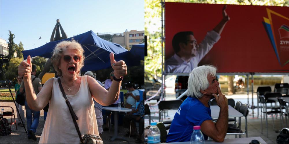 Εκλογές 2019: Έξαλλοι πανηγυρισμοί στα κεντρικά της ΝΔ - Κατήφεια στο ΣΥΡΙΖΑ [εικόνες]