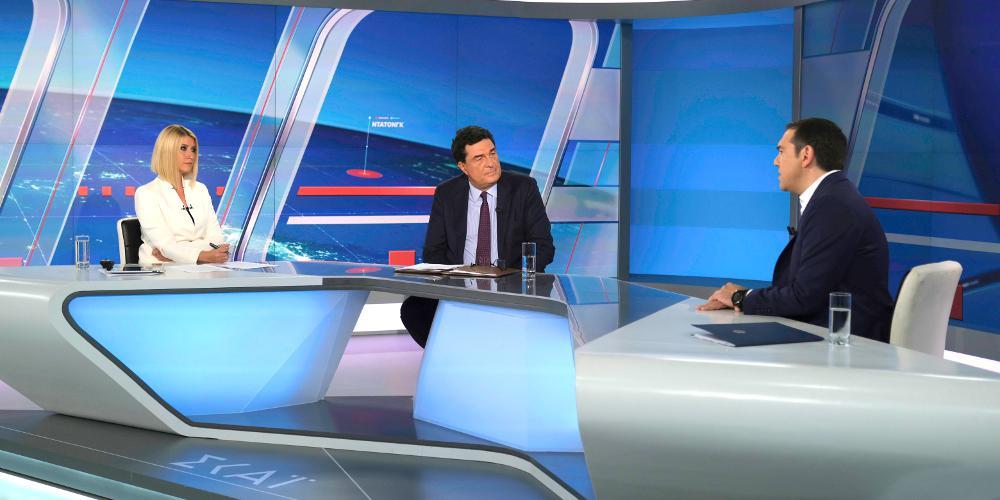 Ξεπέρασε το 40% της τηλεθέασης η συνέντευξη Τσίπρα στον ΣΚΑΪ