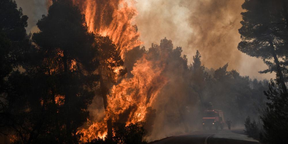 Υψηλός ο κίνδυνος πυρκαγιάς και την Πέμπτη – Στα «κόκκινα» παραμένει η Εύβοια