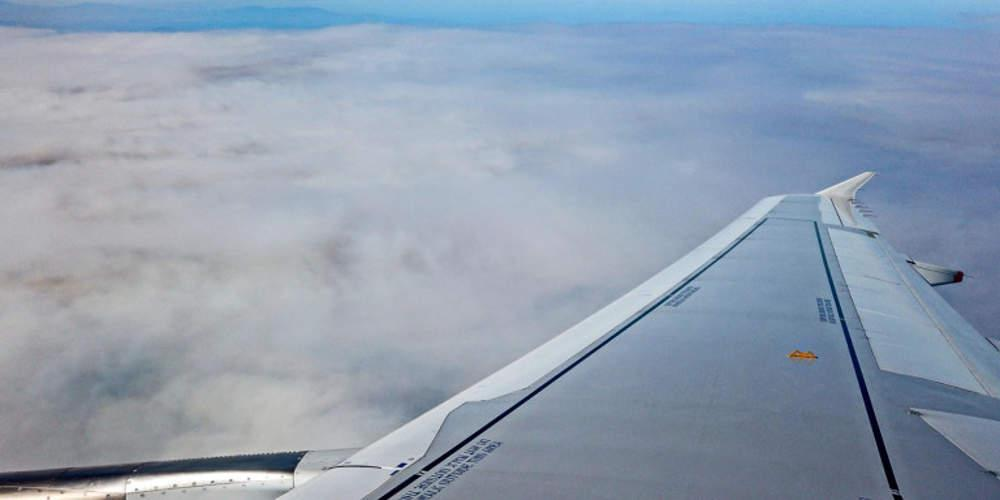 Ο καπνός της πυρκαγιάς στην Εύβοια μέσα από αεροπλάνο [εικόνες]