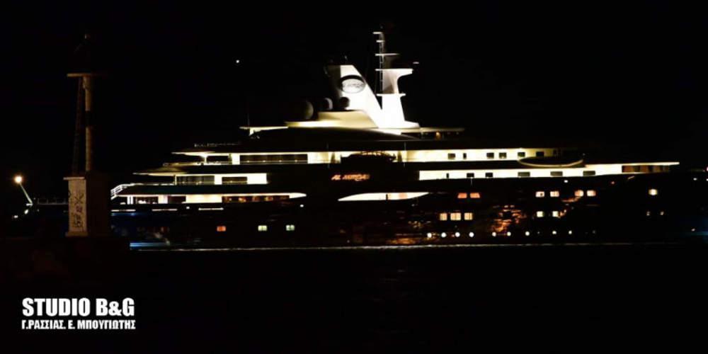 Στο Ναύπλιο ο εμίρης του Κατάρ με το σκάφος-υπερπαραγωγή 133 μέτρων [βίντεο]