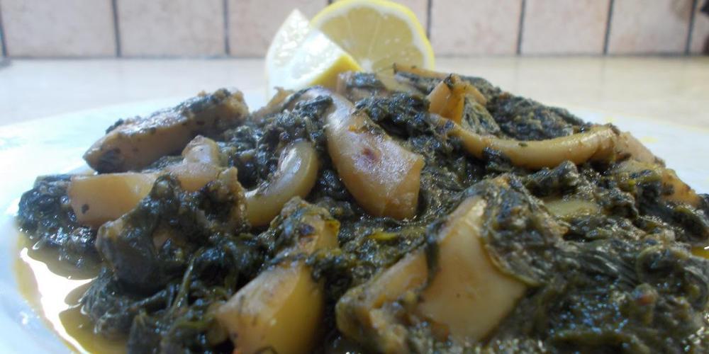 Η συνταγή της ημέρας: Σουπιές με σπανάκι και μυρωδικά