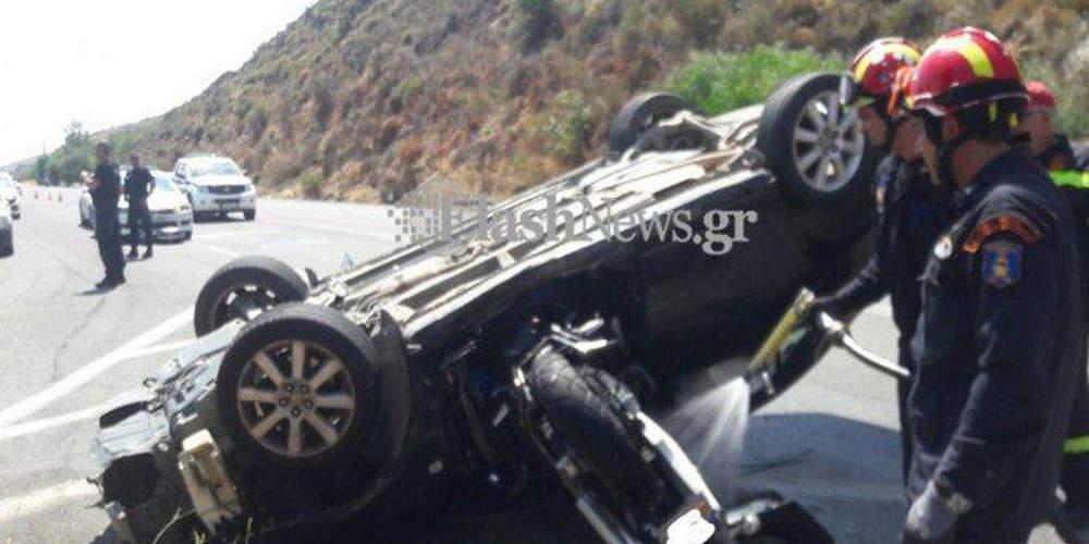 Τροχαίο δυστύχημα στην Κρήτη με έναν νεκρό και δύο τραυματίες