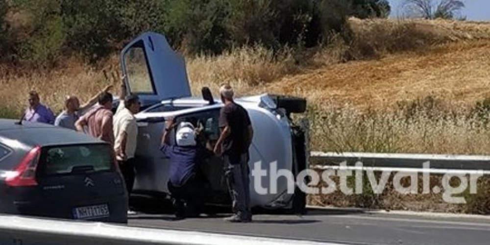 Αναποδογύρισε βανάκι στα Μάλγαρα με 9 επιβάτες – Τραυματίστηκαν 3 παιδιά