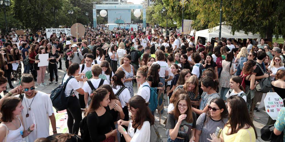 Πορεία μαθητών στο Σύνταγμα για την κλιματική αλλαγή [εικόνες & βίντεο]