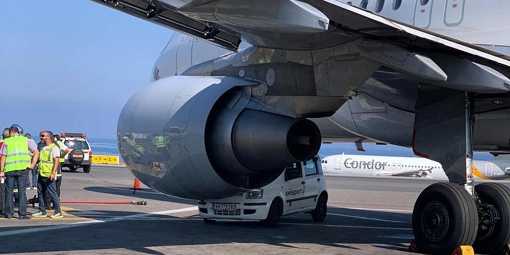 Αδιανόητο! Αεροπλάνο στο Ηράκλειο έπεσε πάνω σε… αυτοκίνητο