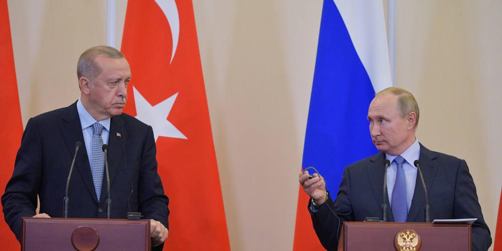 Ερντογάν-Πούτιν συνομιλούν για δεύτερη φορά σε μια ημέρα