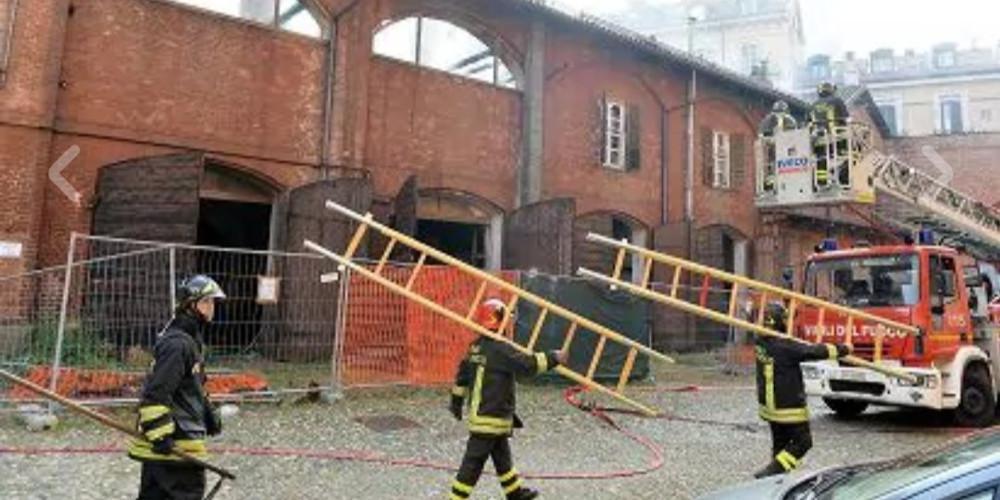 Φωτιά σε μνημείο της UNESCO στο Τορίνο [εικόνες]