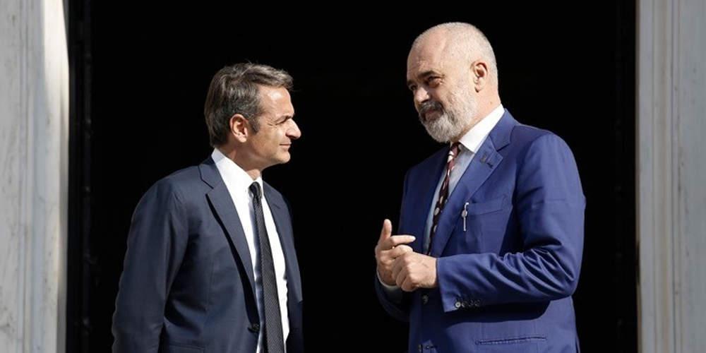 Ο Μητσοτάκης συνεχάρει τον Ράμα για τη νίκη στις αλβανικές εκλογές