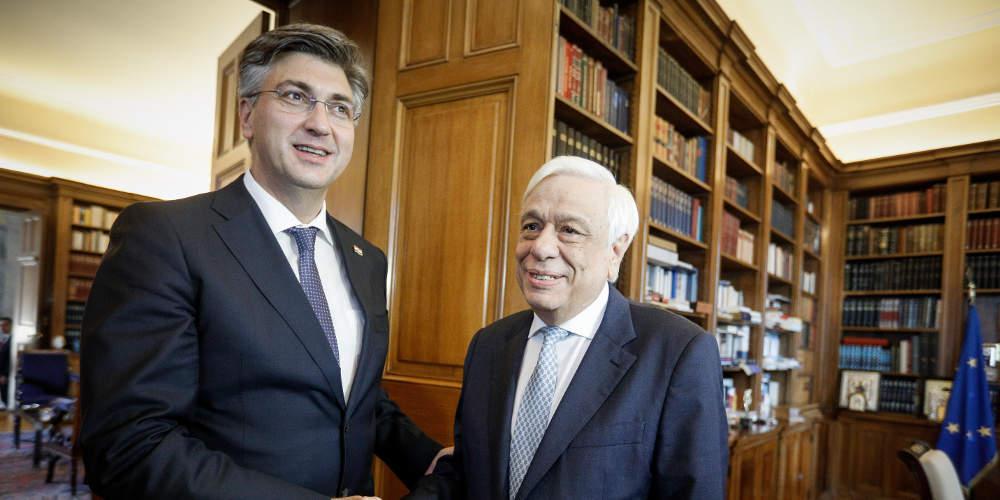 Για την διεύρυνση της ΕΕ συζήτησε ο Παυλόπουλος με τον Κροάτη πρωθυπουργό