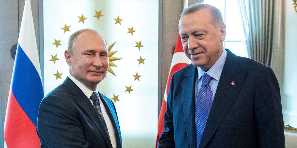 Τηλεφωνική επικοινωνία Πούτιν με Ερντογάν για τις συγκρούσεις στη Λιβύη και τη Συρία