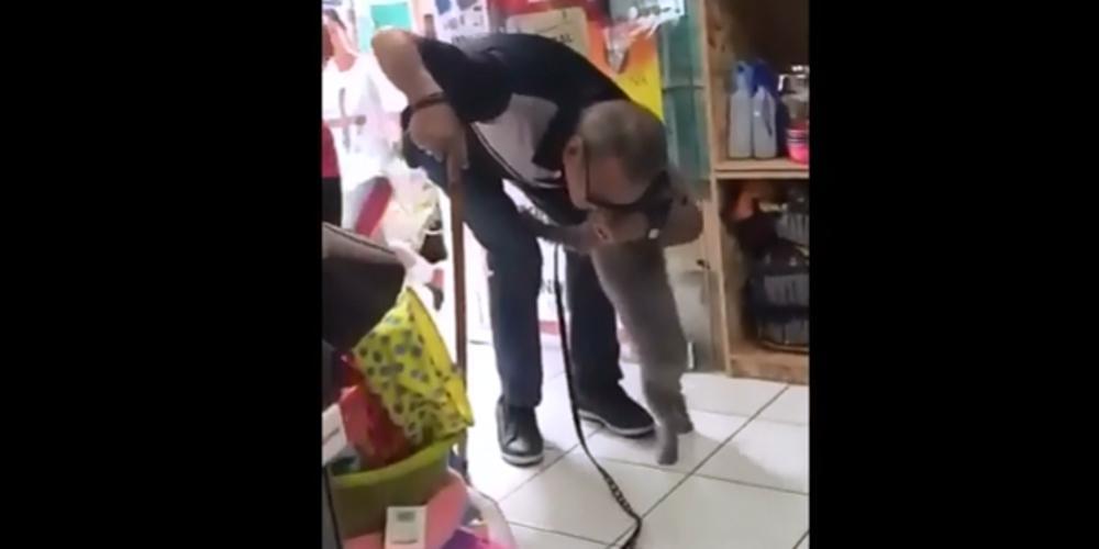 Η συγκινητική στιγμή που σκύλος επανενώνεται με τον ιδιοκτήτη του στον Πειραιά [βίντεο]
