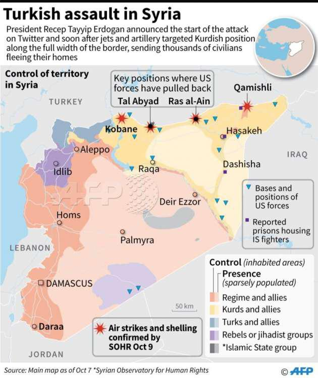 «Κόλαση» στην Συρία: Οι Τούρκοι προελαύνουν, οι Κούρδοι αντιστέκονται [εικόνες & βίντεο]