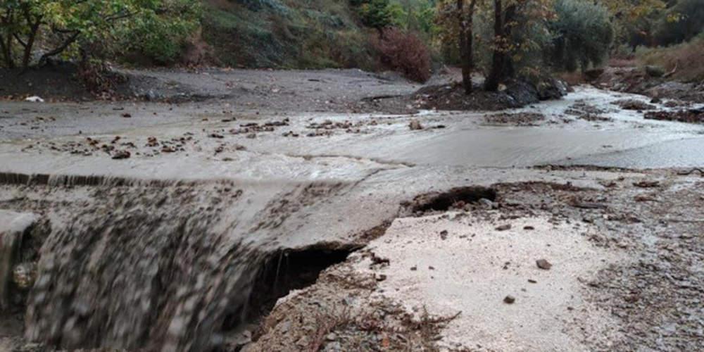 Σοβαρά προβλήματα από την κακοκαιρία στην Κρήτη: Πλημμύρες και κατολισθήσεις