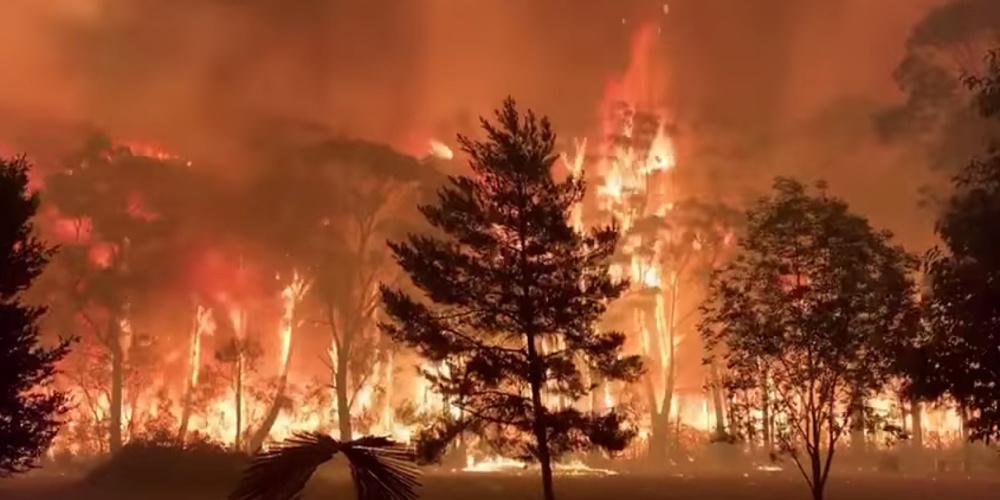 Βίντεο-σοκ: Η στιγμή που οι φλόγες περικυκλώνουν τους πυροσβέστες στην Αυστραλία