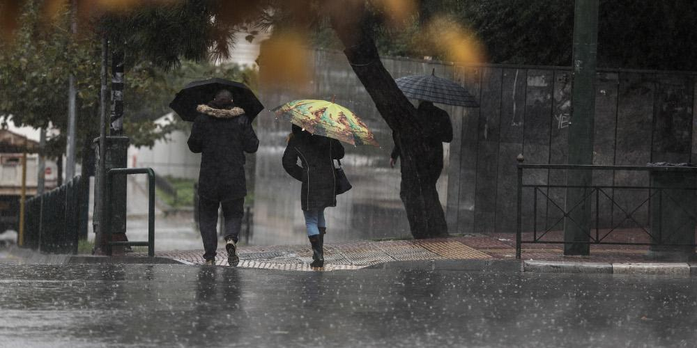 Πρόγνωση καιρού: Βροχές και περαιτέρω πτώση της θερμοκρασίας τη Δευτέρα