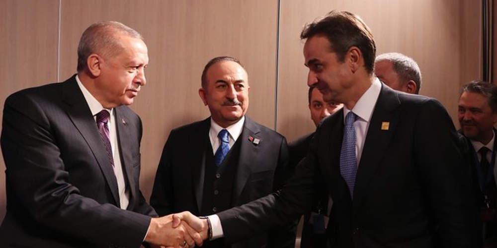 Ολοκληρώθηκε η συνάντηση Μητσοτάκη-Ερντογάν μετά από μιάμιση ώρα