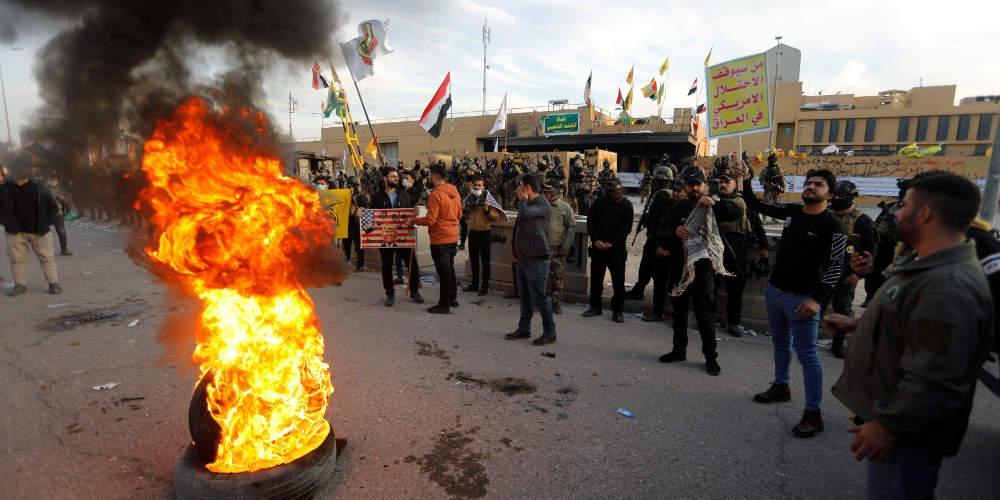 Αποχώρησαν όλοι οι διαδηλωτές από την αμερικανική πρεσβεία στη Βαγδάτη
