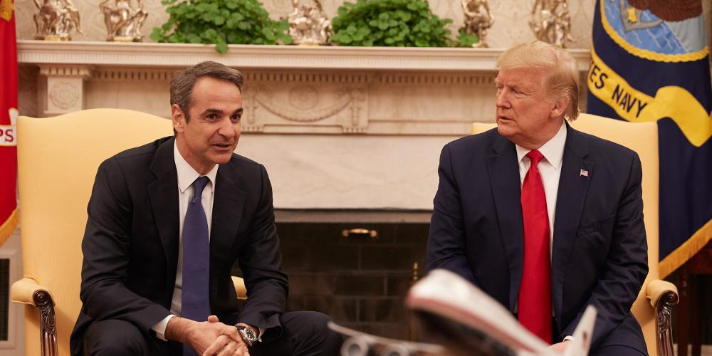 Τραμπ: Ενισχυμένη η σχέση ασφάλειας ΗΠΑ και Ελλάδας – Εξαιρετικός ηγέτης ο Μητσοτάκης