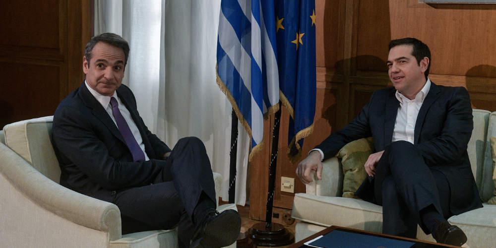 Ξεκίνησαν οι επαφές Μητσοτάκη με τους πολιτικούς αρχηγούς - Τι του είπε ο Τσίπρας