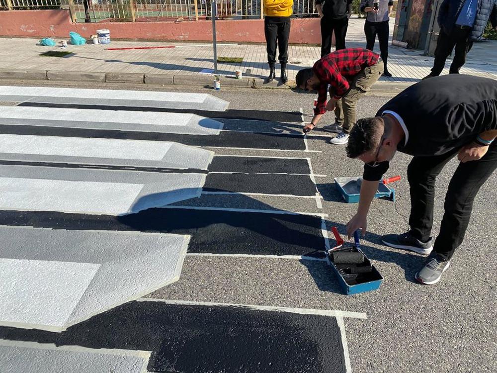 3D διάβαση πεζών διαθέτει πλέον ο δήμος των Αχαρνών