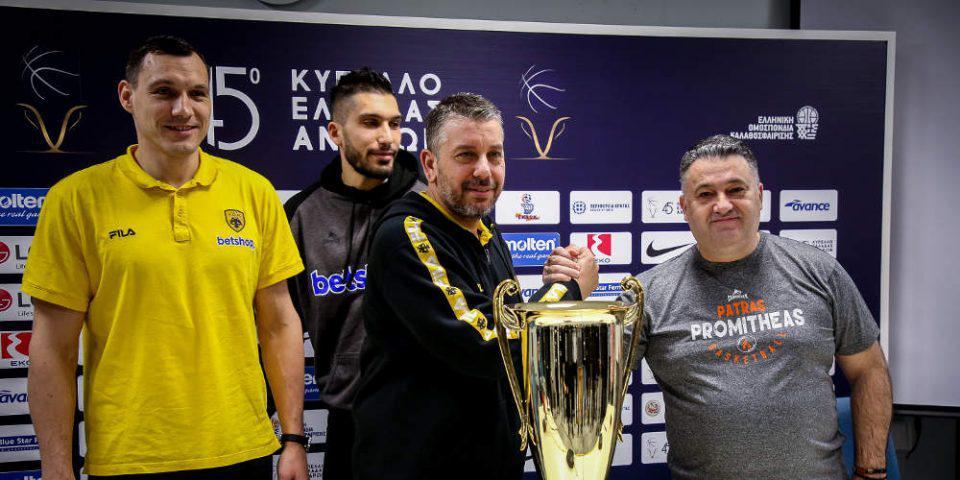 Κύπελλο Ελλάδας: ΑΕΚ και Προμηθέας κοντράρονται στην Κρήτη για τον πρώτο τίτλο της σεζόν