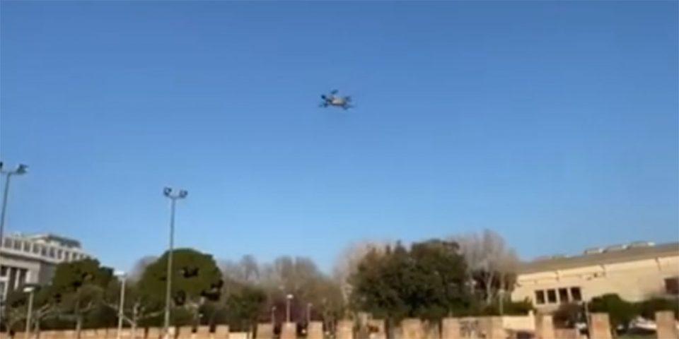 Κορωνοϊός: Μέχρι και drone επιστρατεύτηκε στη Θεσσαλονίκη για να περάσει το μήνυμα #ΜένουμεΣπίτι