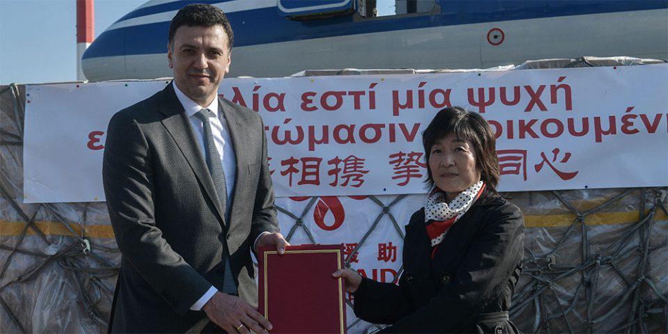 Κορωνοϊός: Έφτασαν οι 500.000 μάσκες από την Κίνα για τα ελληνικά νοσοκομεία [εικόνες]