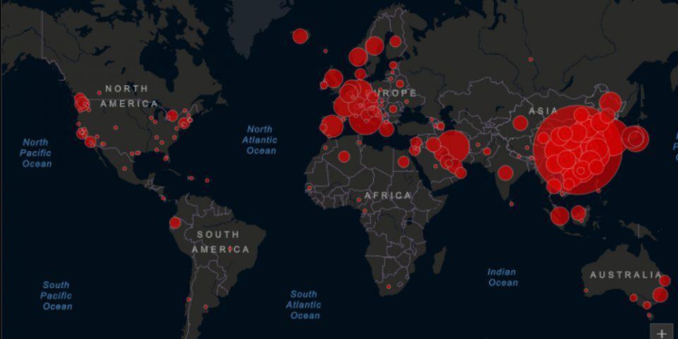 Κορωνοϊός: Δείτε live το χάρτη με την εξάπλωση του ιού