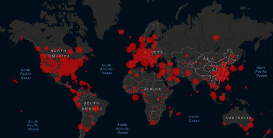 Κορωνοϊός: Πάνω από 50.000 οι νεκροί - Έσπασε το φράγμα του 1 εκατ. κρουσμάτων σε όλο τον κόσμο