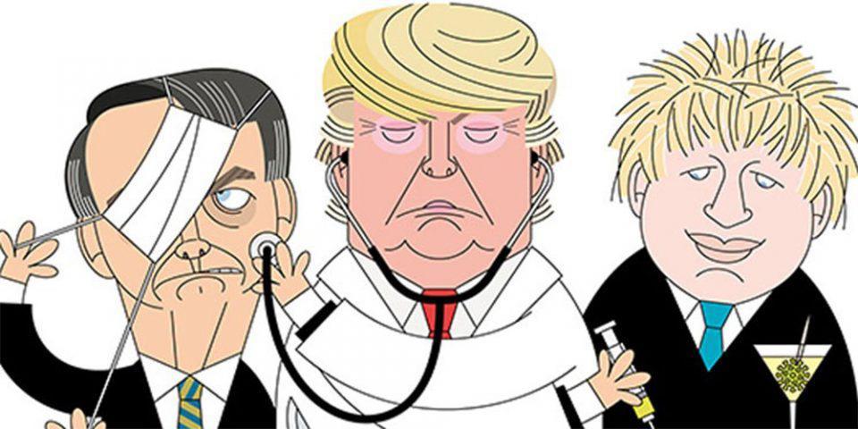 Κορωνοϊός: Το σκίτσο πορτογαλικής εφημερίδας που καυτηριάζει τις στρατηγικές Τραμπ, Τζόνσον και Μπολσονάρου